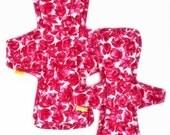 "Cloth Pad Set,Heavy Flow,Plus Size,15"" & 17"" Postpartum Pad Set,Incontinence pad,Cotton Top,Zorb Core,Fleece Bottom Layer"