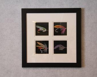 Fishing Fly Framed Embroidery