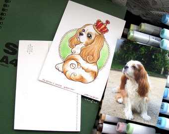original artwork postcard of your pet just for you (size 10cm x 15cm.)