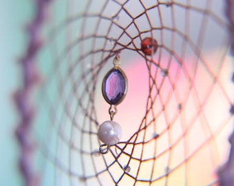 Dream Catcher- Purple Pearl Spiral