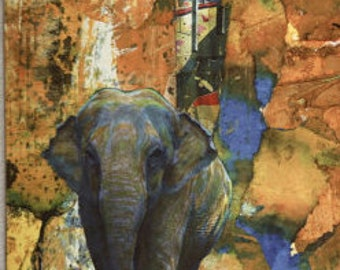 Elephant Greeting Card - pack of 10