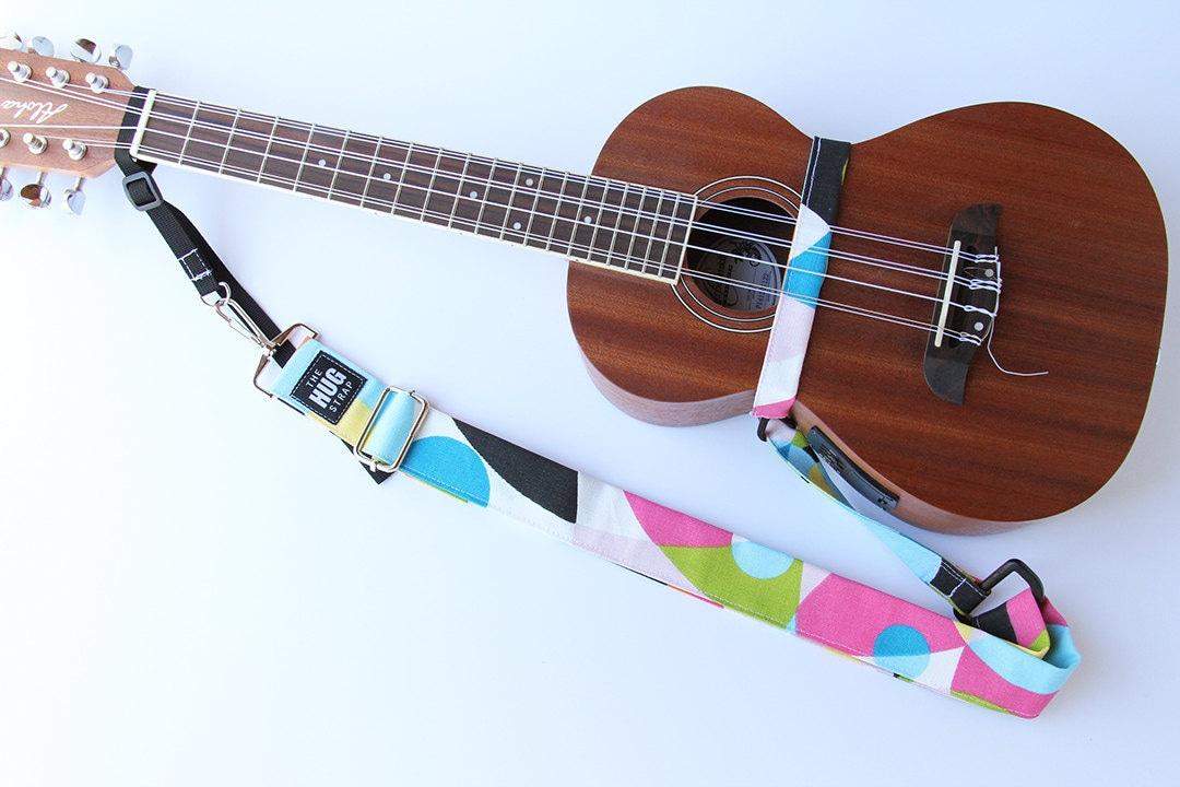 the hug strap handmade ukulele strap uke strap no need etsy. Black Bedroom Furniture Sets. Home Design Ideas