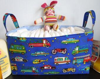 Large Diaper caddy, Fabric Basket, Organization Bin, fabric bin, storage basket bin, Toy Storage Basket, decorative basket,  Nursery Basket