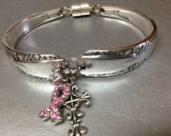 Silver Wear Bracelet, Silver bracelet, Charm bracelet, Spoon Bracelet, Spoon Jewelry, Wrist Wear,