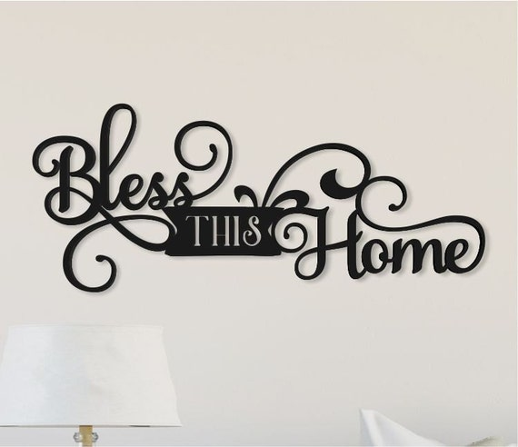 Bless This Home Word Art Wood 3D Cutout by MRC Wood Products