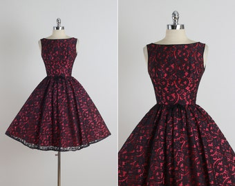 Price of Fame . vintage 1950s dress . 50s party dress . 5439