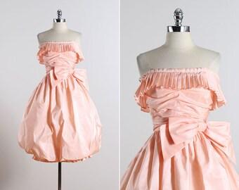 Victor Costa . vintage 1980s dress . 50s inspired dress . 5544