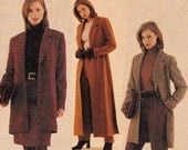 McCall's 9590 Womens Trench Coat Jacket Pants & Skirt Pattern Size 18 20 22 UNCUT Factory Folded
