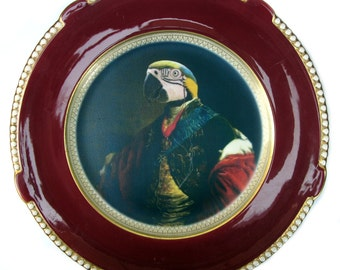 Earl of Psittacoidea Portrait - Altered Antique Plate 11.4""