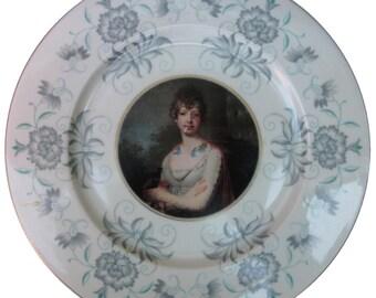 "SALE - Katherine the Terrible - Altered Vintage Plate 10.75"""