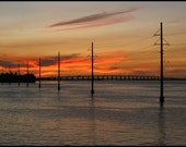 Sunset photo, Florida Keys photography Beautiful sunset photo, Seascape photo, coastal art