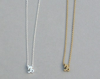 Zodiac Capricorn Necklace in Silver Plated or Gold Plated