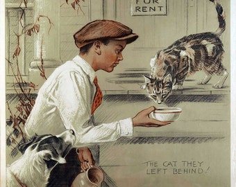 "New Vintage Giclee Reproduction ""Be Knd To Animals""  c1930's"