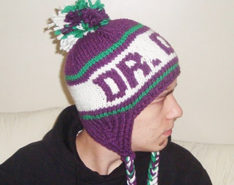 Personalized Womens Hats winter hat Gift for her DR. DOG Earflap Hat womens gift Purple