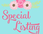 Special listing for andrea