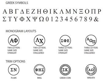 Greek Monogram Wax Seal Stamp