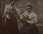 Tintype Two Fashionable Ladies