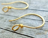 Large Rounded Hook Ear Wires Choose from Sterling, Copper, Oxidized Copper or NuGold  1pair