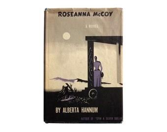 "E. McKnight Kauffer book jacket design, 1947. ""Roseanna McCoy"" by Alberta Hannum."