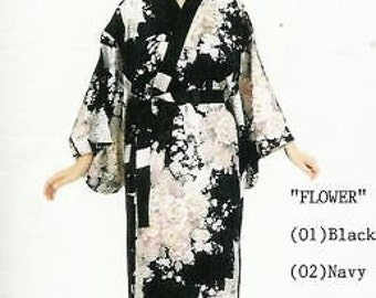 Japanese Lady Kimono -Chrysanthemum Flowers.One Size fits All