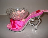 Shoe Candy Dish hearts and roses