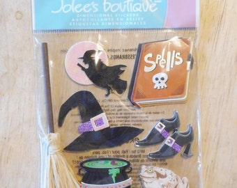 Witches Halloween Dimensional Stickers by Jolee's Boutique