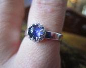 Iolite Blue Purple Gemstone Ring in Sterling Silver DREAM STONE