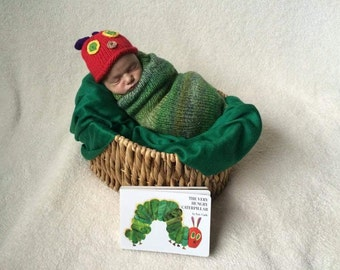 Very Hungry Caterpillar cocoon and hat