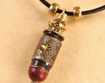 """Etched bullet casing pendant - 400 CorBon casing necklace - """"Monte Cristo"""""""
