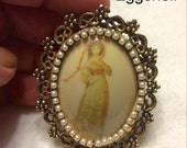 Reserved for Jo Vintage 1940's eggshell brooch pin.