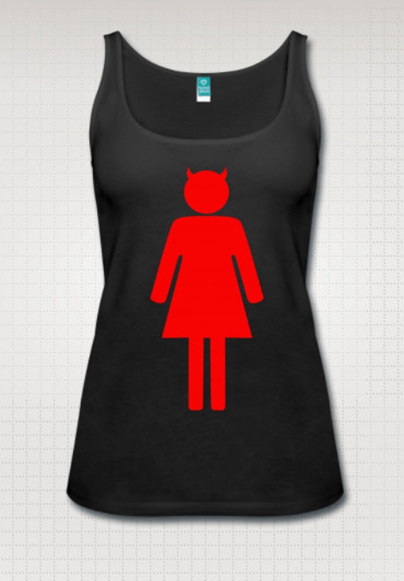 Devil Woman Symbol tank top