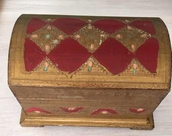 Crown jewels vintage treasure box