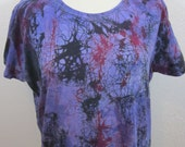 Crackle Tie Dye Purple Size XXL