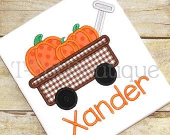 Pumpkin Wagon Embroidered Shirt or Bodysuit Fall Halloween Thanksgiving - FREE PERSONALIZATION