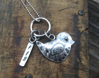 Fly Little Bird Silver Necklace