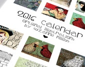 2016 Calendar 40 Percent off! Only ONE REMAINING! Wall Calendar Spiral Bound Limited Edition Only 100 printed.