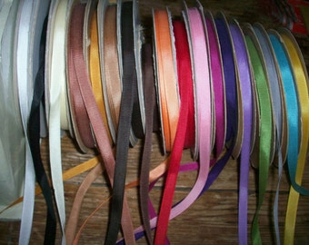 """6 yds. of vintage cotton and rayon grosgrain in colors unused perfect 3/8"""""""