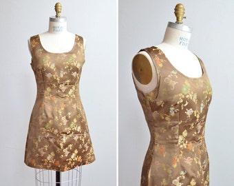 SALE / Vintage 1990s ANTOINE & LILI brocade mini dress
