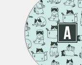 Cat Mouse Pad - Personalized Pet - Teen - Mousepad - Mom - Wife - Best Friend - Monogram Mouse Pad - Cat Mousepad - Round Mousepad - Kawaii