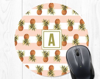 Pineapple Mouse Pad Mousepad Pink Office Desk Accessories Coworker Gift Pink Mouse Mat Pink Office Supplies Pink Office Decor Cubicle Decor