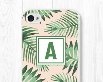Personalized Monogram iPhone 6s Case Gift for Mom Coworker Monogram iPhone 5s Case Monogram iPhone 6 Case Samsung Galaxy S6 Case Banana Leaf