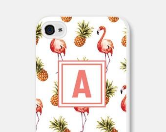 iPhone 6s Case Monogram - iPhone 6 Case - Flamingo iPhone 5 Case - Samsung Galaxy S6 Case Samsung Galaxy S5 Case Personalized iPhone 5s Case