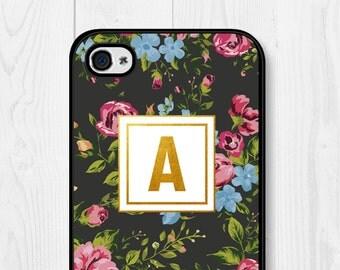 Floral iPhone 6s Case Monogram iPhone 6 Case Personalized iPhone 6 Case Samsung Galaxy S5 Case iPhone 5s Case iPhone 5c iPhone 6 Plus Case