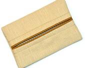 Flax, Straw Colored, Fall Colors, Travel Tissue Holder, Kleenex Holder, Travel Tissue Cozy, Pocket Tissue Holder, Purse Tissue Pouch
