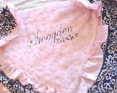 Swirl pink Minky Blanket - Personalized baby blanket - Damask minky blanket