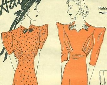 ADVANCE 1860, Dress Pattern, Retro Dress Pattern, Vintage Dress, Vintage Clothing, 1930s, 1940s Clothing