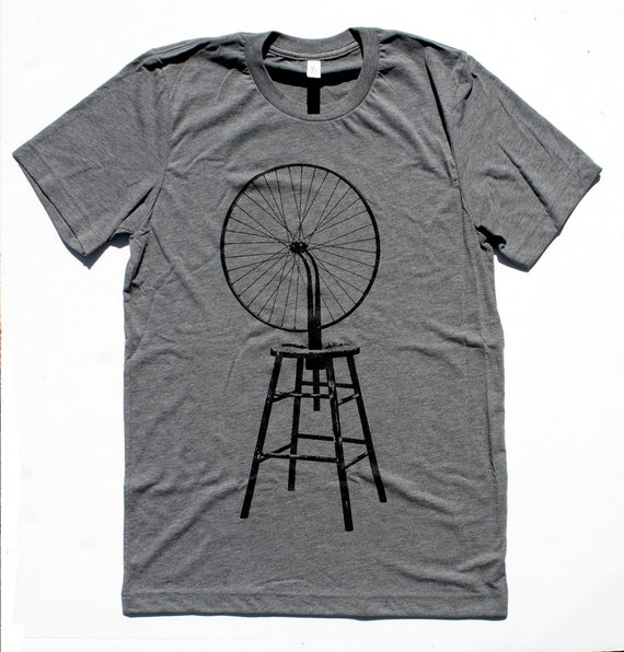 Marcel Duchamp Bicycle Wheel MENS/UNISEX T Shirt  -  Available in S M L XL  -  dada art surrealism