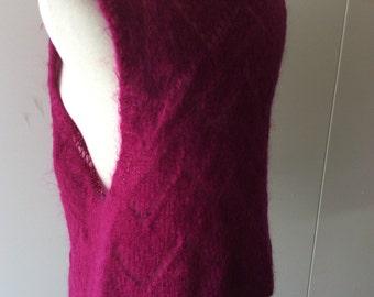 Fuschia Pullover Mohair Sweater Medium