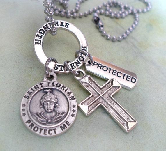 St Florian Necklace: Fire Fighter Protection Necklace St. Florian By