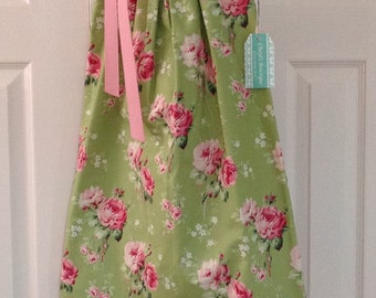 Cottage Rose Dress in Green - 2015 Cottage Collection (SALE)